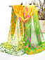 olcso Chic Colorful Chiffon Scarves-Nő Vintage / Bájos / Party / Alkalmi Sifon Sál