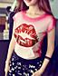 Pink Doll® Dame Rund hals Kort Erme T skjorte Orange-X15BTS105