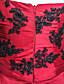 voordelige Avondjurken-Baljurk Eén-schouder Hofsleep Satijn Formele avonden Jurk met Appliqués Pick-up rok door Shang Shang Xi