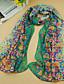 billige Trendy og farverige chiffontørklæder-Damer Vintage Sødt Afslappet Rektangulær,Chiffon Alle årstider Trykt mønster