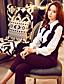 solide slanke broek dabuwawa vrouwen, vintage / straat chic / verfijnde