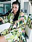 billige Kjoler-Damer Boheme Ferie I-byen-tøj Skift Kjole Trykt mønster,Rund hals Knælang Polyester Sommer Højtaljede Uelastisk Tynd