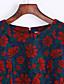 baratos Vestidos de Mulher-Feminino Bainha Vestido,Casual Simples Jacquard Decote Redondo Acima do Joelho Poliéster Outono Inverno Cintura Média Sem Elasticidade