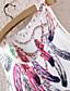 Χαμηλού Κόστους Μίνι Φορέματα-γυναικών αμάνικο φτερό γραφικό εκτύπωσης μίνι φόρεμα