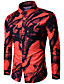 cheap Men's Shirts-Men's Casual Shirt,Print Shirt Collar Long Sleeves Cotton