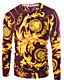 levne Pánské svetry a kardigany-Pánské Čínské vzory Běžné/Denní Standardní Rolák Zvířecí potisk,Dlouhý rukáv Kulatý Bavlna Podzim Střední Lehce elastické