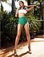 cheap Women's Swimwear & Bikinis-Women's Halter Bandeau Bikini - Color Block, Ruffle High Waist