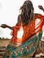 baratos Biquínis e Roupas de Banho Femininas-Mulheres Boho Cobertura - Geométrica, Estampado