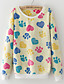 cheap Women's Hoodies & Sweatshirts-Women's Daily Sweatshirt Print Round Neck Micro-elastic Spandex Long Sleeve Winter