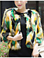 cheap Women's Fur Coats-Women's Simple Fur Coat Print