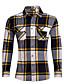 cheap Men's Shirts-Men's Daily Plus Size Vintage Street chic Summer Shirt,Striped Plaid Peter Pan Collar Long Sleeves Cotton Medium