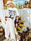 Naiset Lyhythihainen Pyöreä kaula-aukko Puuvilla Viskoosia Yksinkertainen Päivittäin Kausaliteetti T-paita,Yhtenäinen Painettu Lainaukset