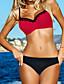 cheap Women's Swimwear & Bikinis-Women's Solid Red Thong Bikini Swimwear - Solid Colored Classic Style / Sexy L XL XXL