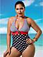 ieftine Bikini & Costume Baie 2017-Pentru femei O Piesă Buline Halter