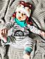 preiswerte Babyoverall-Baby Jungen Einzelteil Streifen Baumwolle Winter Frühling/Herbst Langarm Streifen Grau