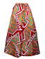 preiswerte Damen Röcke-Damen Vintage Ausgehen Lässig/Alltäglich Maxi Röcke A-Linie Druck Frühling Sommer Herbst