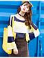 preiswerte Damen Pullover-Damen Standard Pullover-Strand Einfarbig Rundhalsausschnitt Langarm Andere Frühling Sommer Mittel Mikro-elastisch