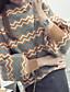 Damen Standard Pullover-Lässig/Alltäglich Solide Geometrisch Rollkragen Langarm Baumwolle Leinen Herbst Mittel Mikro-elastisch