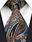 cheap Men's Ties & Bow Ties-Men's Work Rayon Necktie - Geometric Color Block Jacquard Basic