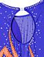 preiswerte Eiskunstlaufkleider-Eiskunstlaufkleid Damen Mädchen Eislaufen Kleider Blau Strass Hochelastisch Leistung Eiskunstlaufkleidung Handgemacht Klassisch Langarm