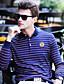 tanie Męskie koszulki polo-Polo Męskie Moda miejska Bawełna Kołnierzyk koszuli Prążki