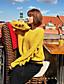 preiswerte Damen Pullover-Damen Standard Strickjacke-Lässig/Alltäglich Solide Rundhalsausschnitt Langarm Baumwolle Herbst Winter Mittel Mikro-elastisch