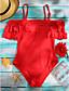 cheap Women's Swimwear & Bikinis-Women's Bandeau One-piece Cutout Solid