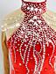זול שמלות להחלקה על הקרח-שמלה להחלקה אמנותית בגדי ריקוד נשים / בנות החלקה על הקרח שמלות אדום ספנדקס ביגוד להחלקה על הקרח נצנצית שרוול ארוך החלקה אמנותית