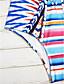 billige Bikinier og damemote 2017-Dame Stripet En del Badetøy Kryss Retro Stropper Regnbue