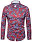 זול חולצות לגברים-פרחוני גיאומטרי כותנה, חולצה - בגדי ריקוד גברים