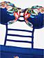 abordables Biquinis y Bañadores para Mujer-Mujer Boho Bandeau Monokini - Estampado, Floral Slips Sin Tirantes