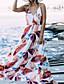 tanie Sukienki maxi-Damskie Boho Bawełna Szczupła Spodnie - Geometric Shape Odkryte plecy Czarny / Maxi / Pasek / Wzory kwiatów / Seksowny