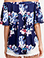 cheap Women's Blouses-Women's Going out Blouse - Floral Boat Neck / Summer
