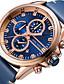 ieftine Ceasuri de Lux-MINI FOCUS Bărbați Ceas de Mână Quartz Calendar Cronograf Cronometru Piele Autentică Bandă Analog Lux Casual Negru / Albastru - Albastru Negru / Argintiu Aur / argint / negru / Mare Dial