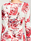 cheap Women's Dresses-Women's Bodycon Sheath Dress - Floral, Ruched V Neck