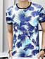 お買い得  メンズTシャツ&タンクトップ-男性用 Tシャツ ストリートファッション ラウンドネック カモフラージュ ブルー XXL / 半袖