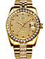 お買い得  機械式腕時計-Angela Bos 男性用 リストウォッチ 日本産 自動巻き ステンレス シルバー / ゴールド 30 m 耐水 カレンダー カジュアルウォッチ ハンズ ぜいたく カジュアル - ゴールド シルバー / 模造ダイヤモンド