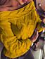 povoljno Ženski džemperi-Žene Dnevno Osnovni Jednobojni Dugih rukava Regularna Pullover, Bez naramenica Jesen Bijela / Svjetloplav / Navy Plava M / L / XL