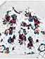 Χαμηλού Κόστους Βρεφικά φορέματα-Μωρό Κοριτσίστικα Κομψό στυλ street Καθημερινά Φλοράλ Μακρυμάνικο Πολυεστέρας Φόρεμα Λευκό