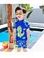 זול בגדי ים לבנים-בגדי ים כותנה גיאומטרי בנים ילדים