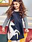 זול שמלות לבנות-שמלה פסים / אנימציה בנות ילדים / פעוטות