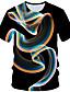 hesapli Erkek Tişörtleri ve Atletleri-Erkek Yuvarlak Yaka Tişört Geometrik Büyük Bedenler Siyah / Kısa Kollu