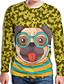 hesapli Erkek Tişörtleri ve Atletleri-Erkek Tişört Desen, Hayvan Temel Köpek Sarı