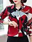 hesapli Gömlek-Kadın's Gömlek Desen, Zıt Renkli Çin Stili YAKUT