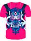 hesapli Erkek Tişörtleri ve Atletleri-Erkek Tişört Desen, Zıt Renkli / 3D / Karton Sokak Şıklığı / Abartılı Fuşya