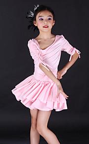 Dansetøj til børn Kjoler Træning Spandex Halvlange ærmer
