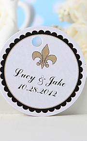 Personalized Favor Tag - Flower-de-luce (Set of 36) Wedding Favors