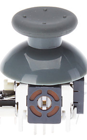 Replacement 3D Rocker Joystick Cap Shell Mushroom Caps for XBOX360 Wireless Controller (Gray)