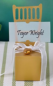 Cubic Card Paper Favor Holder with Ribbons Favor Boxes - 12