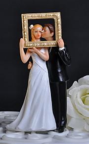 케이크 장식 클래식 테마 클래식 커플 와 꽃패턴 선물 상자